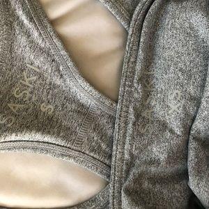 saski collection Pants - Saski Collection marble grey bra and leggings